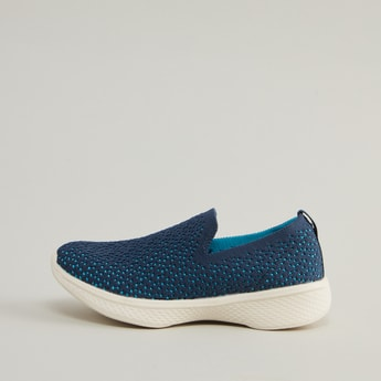 Textured Slip on Shoes with Pull Tabs