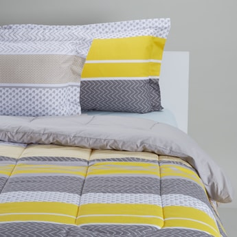 Printed 3-Piece Comforter Set - 220x230 cms