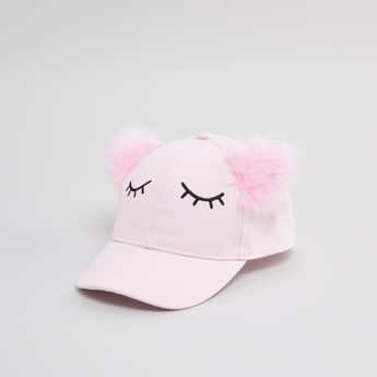 Embroidered Cap with Hook and Loop Closure