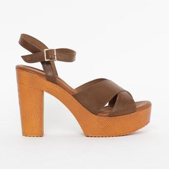 CATWALK Solid Platform Heel Sandals