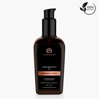 THE MAN COMPANY Hair Growth Oil - Bhringraj & Basil - 90 ml