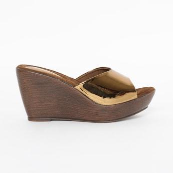 CATWALK Peep-Toe Platforms with Wedged Heels