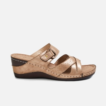CATWALK Women Textured Wedges with Perforations