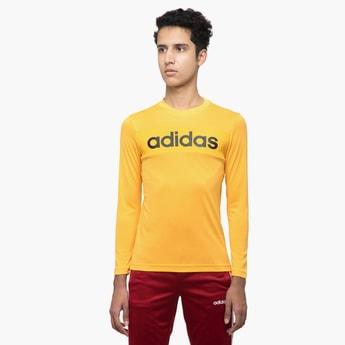 ADIDAS Printed Panelled Full Sleeves T-shirt