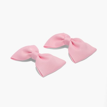 TONIQ KIDS Bow Accent Tic-Tac Clips - Set of 2
