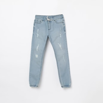 FAME FOREVER KIDS Distressed Elasticated Joggers