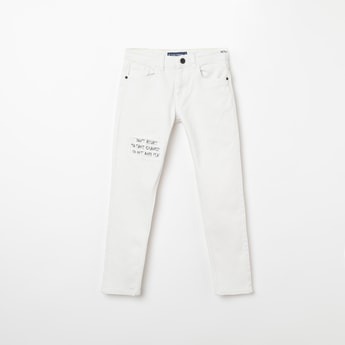 FAME FOREVER KIDS Printed Ripped Skinny Fit Jeans