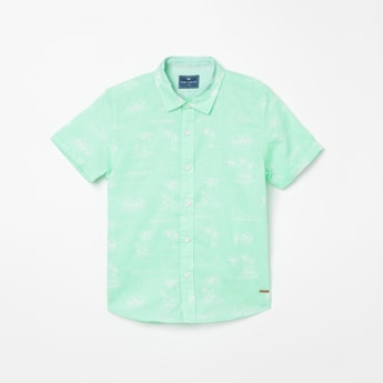 FAME FOREVER KIDS Printed Casual Shirt with Short Sleeves