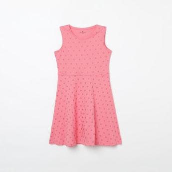 FAME FOREVER KIDS Textured A-line Dress
