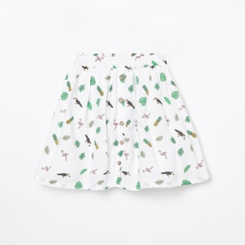 FAME FOREVER YOUNG Printed A-line Skirt