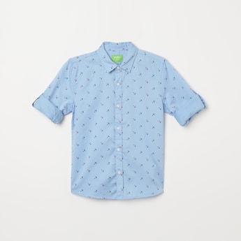 BOSSINI Printed Full Sleeves Casual Shirt