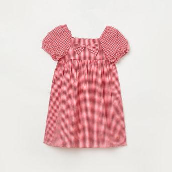 BOSSINI Girls Checked Short Sleeves Dress