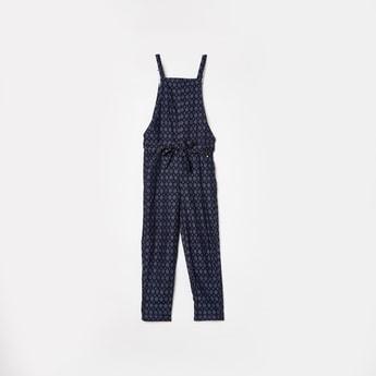 BOSSINI Girls Printed Sleeveless Jumpsuit with Sash Tie-Up