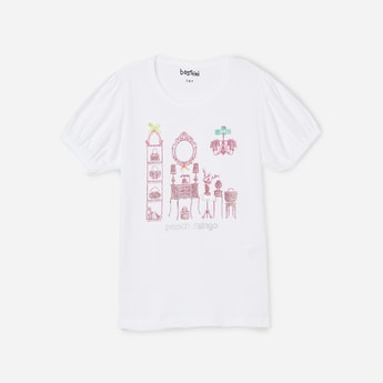 BOSSINI Girls Puffed Sleeves T-shirt