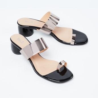 INC.5 Toe-Ring Colourblock Block Heels