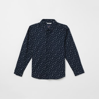 ALLEN SOLLY Printed Full Sleeves Casual Shirt