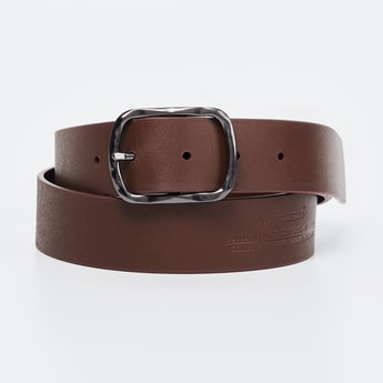ALLEN SOLLY Genuine Leather Textured Casual Belt