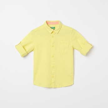 UNITED COLORS O F BENETTON Solid Full Sleeves Casual Shirt
