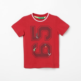 UNITED COLORS OF BENETTON Printed Crew Neck T-shirt