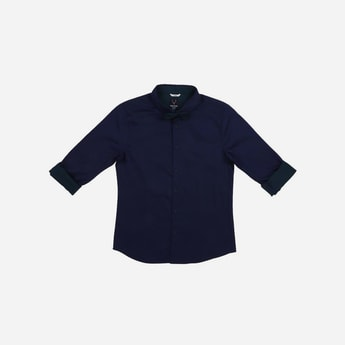 ALLEN SOLLY Solid Shirt with Bow