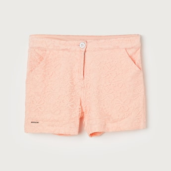 PEPPERMINT Girls Lace Detail Shorts