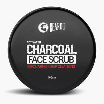 BEARDO Activated Charcoal Face Scrub- 100 gm