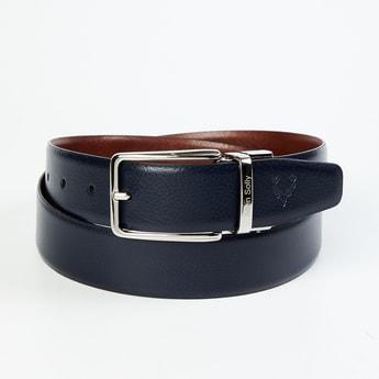 ALLEN SOLLY Men Solid Reversible Casual Leather Belt