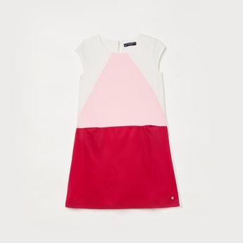 ALLEN SOLLY Girls Colourblock A-line Dress