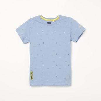 ALLEN SOLLY Printed Crew Neck T-shirt