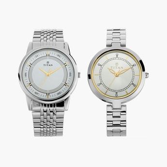 TITAN Bandhan Water-Resistant Pair Watch - NM17732603SM01