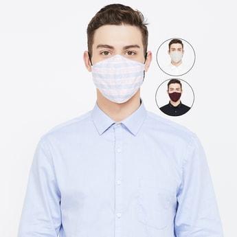 VAN HEUSEN Men Reusable Assorted Anti-Bacterial Masks - Pack of 3 Pcs.