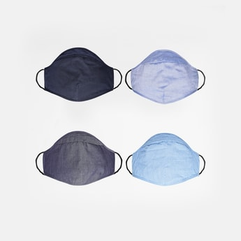 CODE Textured Reusable Face Mask - Pack of 4