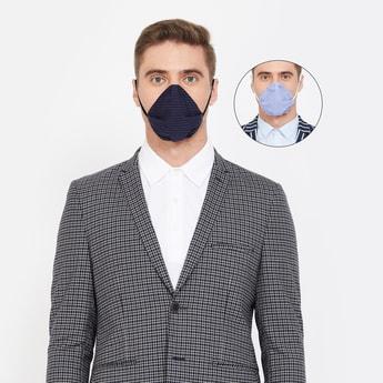 CODE Men Printed 4-Layered Anti-Viral Reusable Masks - Pack of 2 Pcs.