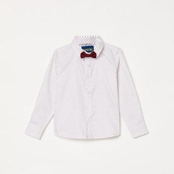 JUNIORS Boys Printed Full Sleeves Casual Shirt