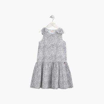 ANGEL & ROCKET Girls Printed Sleeveless Drop-Waist Dress
