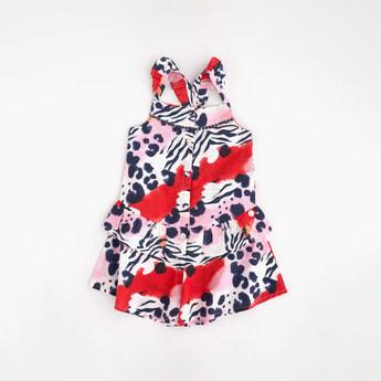ANGEL & ROCKET Girls Printed A-line Dress