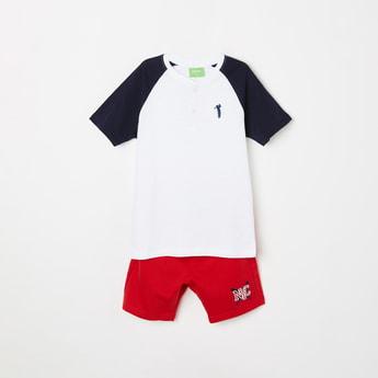 BOSSINI Boys T-shirt and Solid Elasticated Shorts