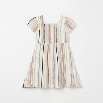 FAME FOREVER KIDS Girls Textured A-line Dress