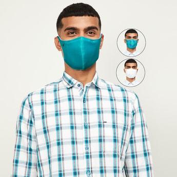 BLACKBERRYS Men Printed Triple-Layered Face Mask - Set of 3