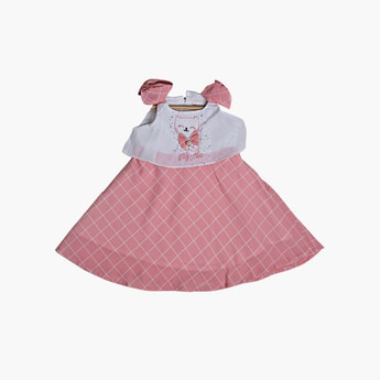 PEPPERMINT Girls Embroidered Layered A-Line Dress