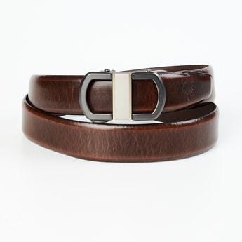 ALLEN SOLLY Men Textured Casual Belt