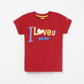 ALLEN SOLLY Boys Printed Crew Neck T-shirt