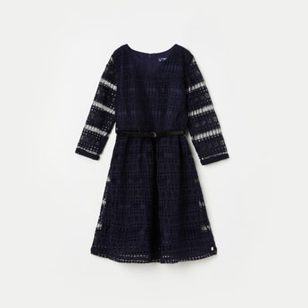 ALLEN SOLLEY Girls Lace Fit and Flare Dress