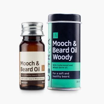 USTRAA Men Mooch and Beard Oil Woody- 35ml