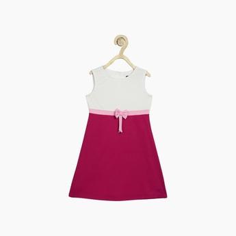 ALLEN SOLLY Girls Colourblocked A-Line Dress