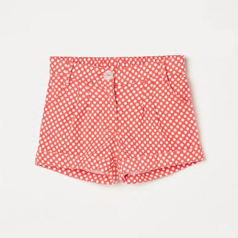 PEPPERMINT Girls Polka Dot Print Shorts