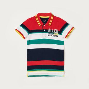 ALLEN SOLLY Boys Colourblocked Short Sleeves Polo T-shirt