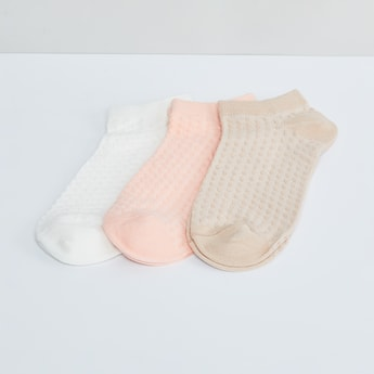 MAX Textured Ankle Lenght Socks- Set of 3 Pcs.