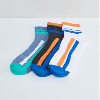 MAX Striped Anklet Socks - Pack of 3 Pcs.