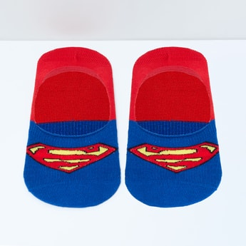 MAX Superman Patterned Footlets - 10-12Y